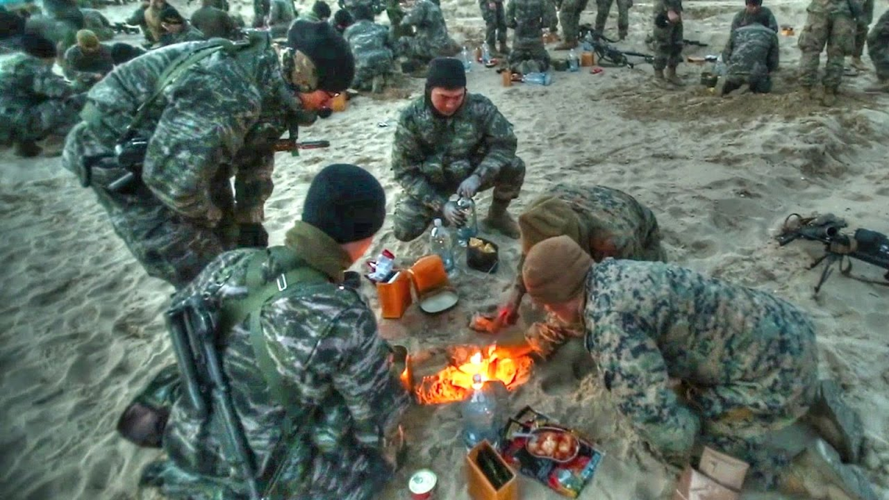 US Marines & Korean Marines Try Each Other's Field Rations ...
