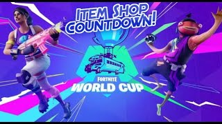 *New* Fortnite World Cup Skins! (Item Shop Countdown Live) #Roadto1k