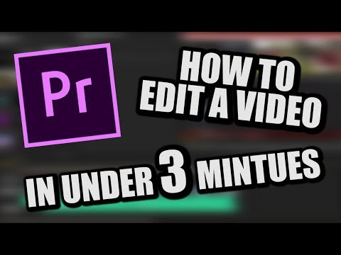 How to Edit -  In Under 3 Minutes ( On Premiere Pro Cs6)