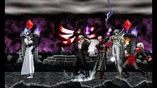 MUGEN KOF Mr Kyo Vs. Super Boss Team