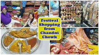 Festival Shopping From Chandni Chowk Market in Delhi   Paranthe Wali Gali   Indian Mom Studio