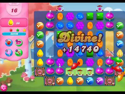 Candy Crush Saga level 3144 (NO BOOSTER)