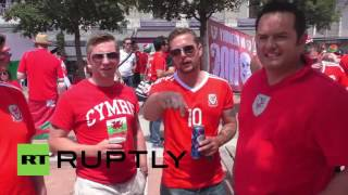 France: Welsh and Portuguese fans gear up for historic Euro clash
