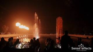 Water and Fire Show Sense Effects at AED Studio's Belgium