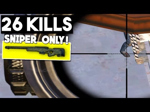 SNIPER ONLY CHALLENGE! | 26 KILLS | PUBG Mobile