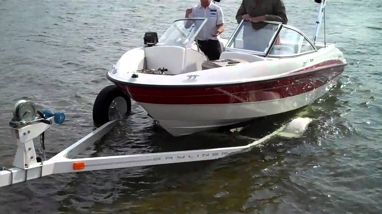 Loading Boat On Trailer Youtube