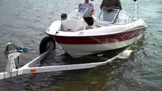 Loading Boat On Trailer