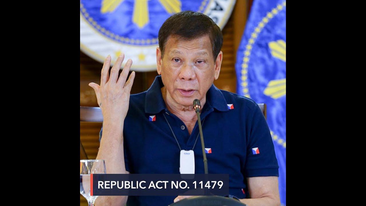 Duterte signs 'dangerous' anti-terror bill into law