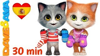 😽 Tres Gatitos | Colección de Canciones Infantiles | Canciones para Niños de Dave y Ava😽