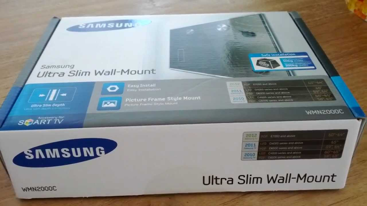 Howto Mounting Samsung Led Es 8000 With Ultra Slim Wall Mount