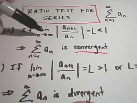 Using the Ratio Test to Determine if a Series Converges #1