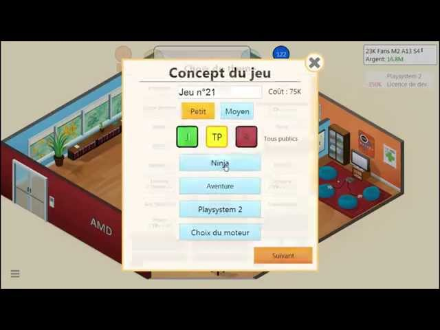 Sans Commentaire: Game Dev Tycoon Partie 7 1080P/60FPS