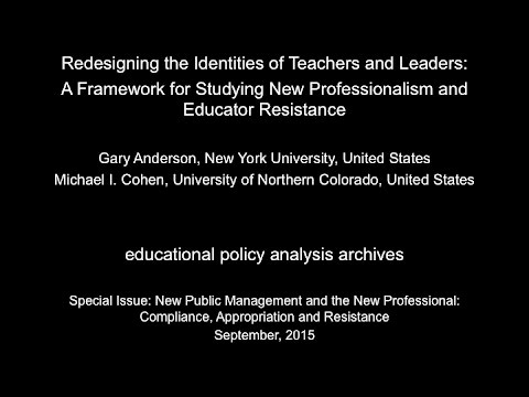 EPAA: Anderson & Cohen on Redesigning the Identities of Teachers and Leaders