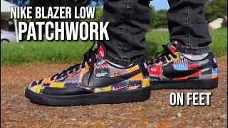 """The NIKE Blazer Low PRM """"PATCHWORK"""" On"""