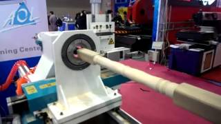 cnc machine with rotary for cylinder wood,low cost cnc router-AOL CNC Equipment