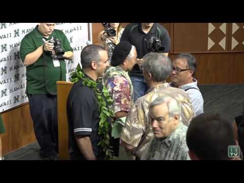 Behind the Scenes - Hawaii Football Coach Nick Rolovich Press Conference