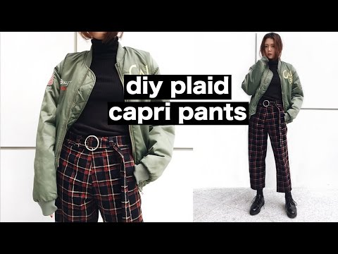 DIY Plaid Wide Leg Capri Pants | Q2HAN