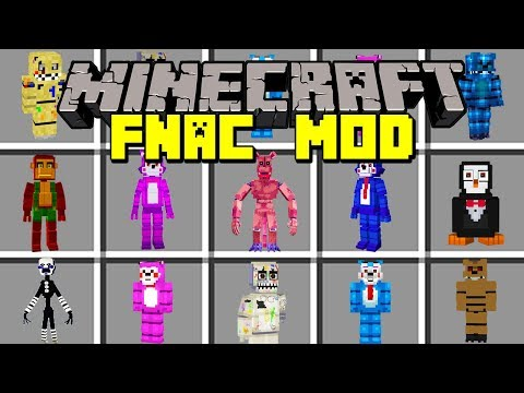 Minecraft FIVE NIGHTS AT FREDDY'S CANDY MOD! | SURVIVE AGAINST NEW FNAF MONSTERS! | Modded Mini-Game