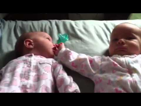 The twins having a morning conversation