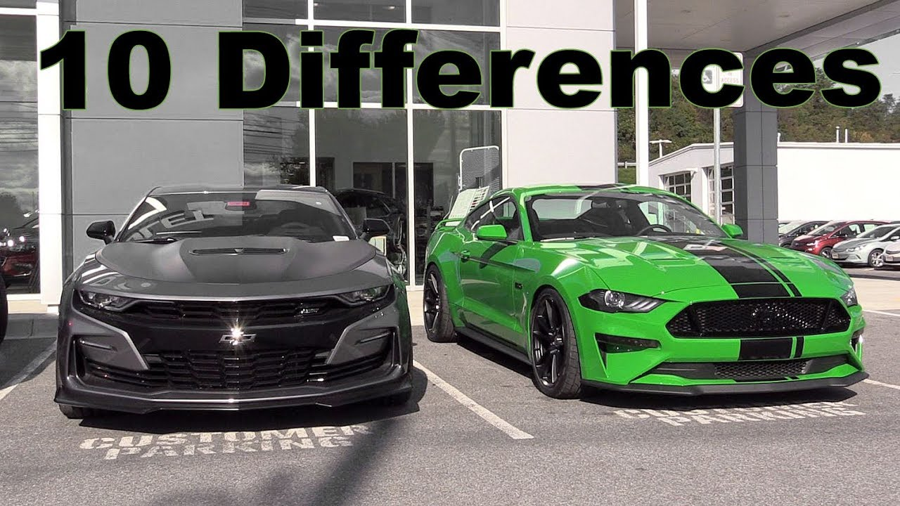 2019 Camaro Ss Vs 2019 Mustang Gt Youtube