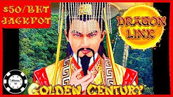 🐲HIGH LIMIT Dragon Link Golden Century HANDPAY JACKPOT 🐲$50 BONUS ROUND Slot Machine Casino