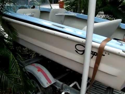 Classic Vintage Glasspar Lido 14 Boat Trailer Glaspar Youtube
