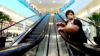 Funny Escalator Video - Lady VS Joker