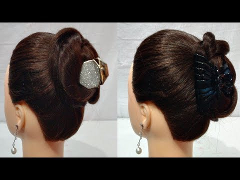 2 easy juda Clutcher Bun Hairstyles || hair style girl || everyday  hairstyle|| simple hairstyle thumbnail