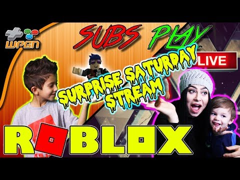 🔥 ROBLOX LIVE 🔥SURPRISE SATURDAY STREAM 💙 Subs Play Jailbreak / Speed Run  and More 💙  (1-27-18)