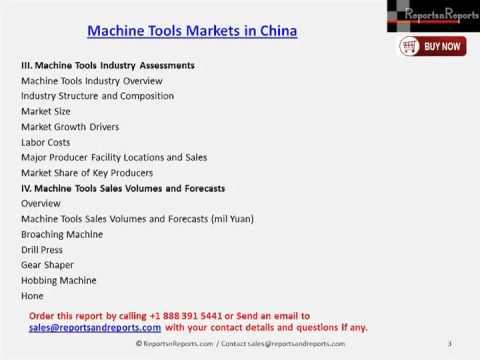 Machine Tools Markets in China