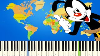 How to play Yakko's World - The Nations Of The World on piano Want ...