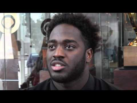 UGA DL Sterling Bailey talks during Missouri week