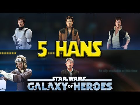 5 Hans - Young Han Vandor Chewbacca Testing - Star Wars: Galaxy Of Heroes - SWGOH