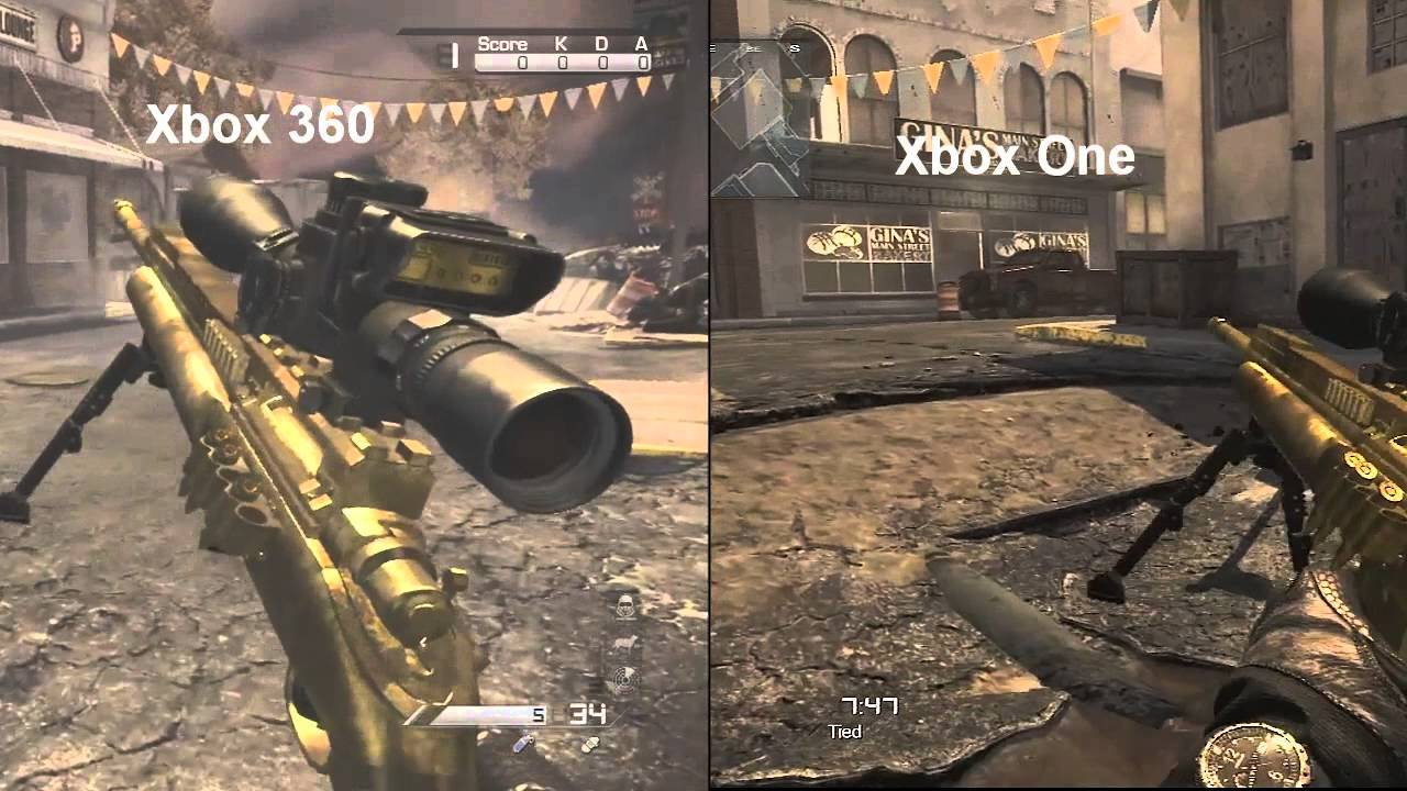 XBOX ONE GAMEPLAY (HD) Xbox 360 vs Xbox One GRAPHICS ...