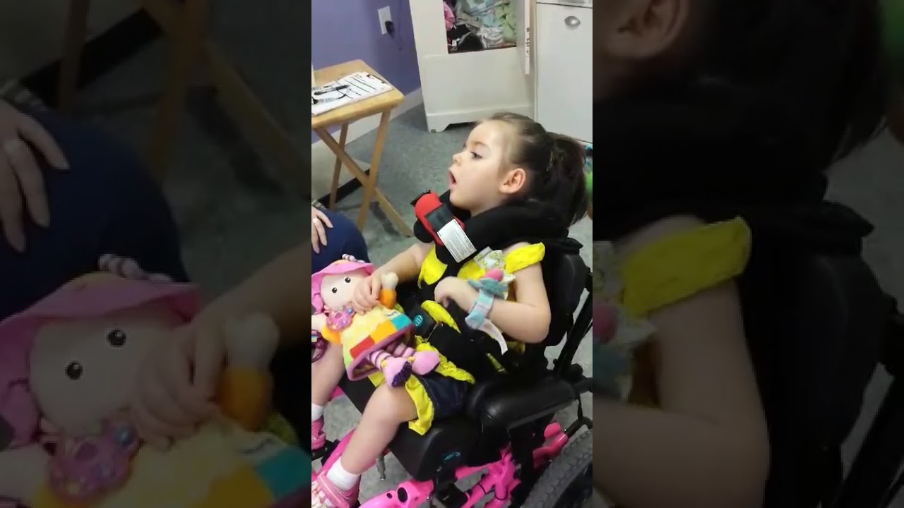 Ashlynn Taylor- SBS Survivor- She attempts to figure out how to touch her favorite toy....and...