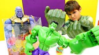Супергерои: Танос против Халка. Мультики для мальчиков