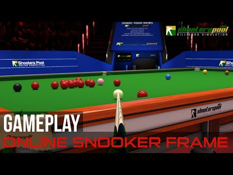 Online Snooker Frame Gameplay - ShootersPool Billiards Simulation