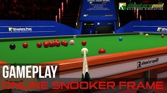 Online Snooker frame gameplay - ShootersPool Billiards Simulation
