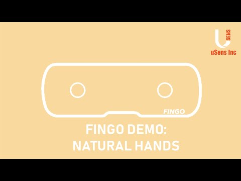 Fingo Demo: Natural Hands