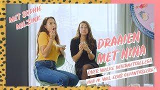 'Welke Youtuber gaat volgens SOPHIE MILZINK als eerst vreemd? || Draaien met Nina #2 || NINA WARINK