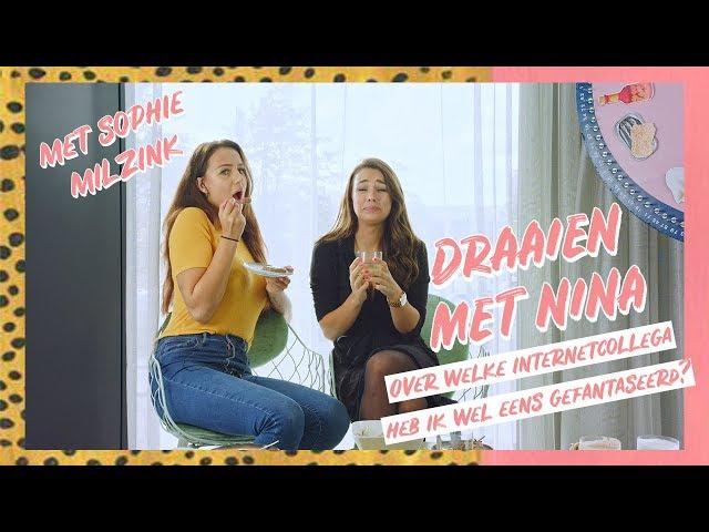 'Welke Youtuber gaat volgens SOPHIE MILZINK als eerst vreemd?    Draaien met Nina #2    NINA WARINK