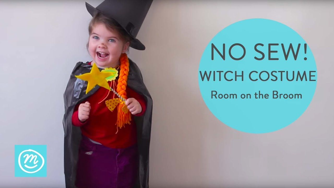 How To Make a Room On The Broom Witch Costume | Channel Mum  sc 1 st  YouTube & How To Make a Room On The Broom Witch Costume | Channel Mum - YouTube