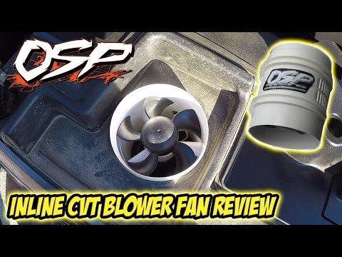 OSP Racing Inline CVT Blower Fan Overview - Polaris RZR XP Turbo Clutch Blower Cooler