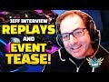 Overwatch Jeff Interview - NEW Replay System! DVa and Torb NERFS! + NEW Events TEASED?!