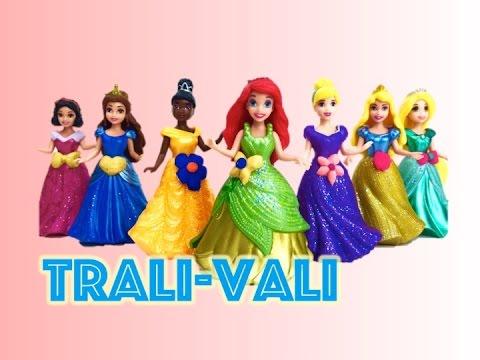 Диснеевские  принцессы, одевалки принцесс  7 Disney Princess MagiClip Collection