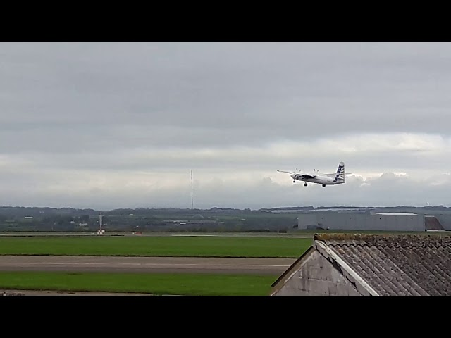 FlyVLM Fokker 50 Departing From Cardiff Airport RARE