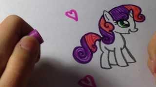 Как нарисовать пони Свити Бель(В этом видео я рисую пони Свити Бель, она очень милая и красивая, еще она маленькая поняшка и сестренка Рарит..., 2014-03-09T14:33:31.000Z)