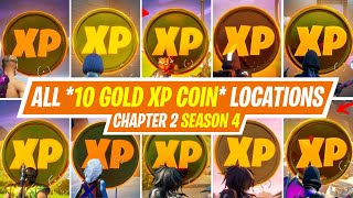 ALL 10 GOLD XP COIN LOCATIONS IN FORTNITE SEASON 4 - WHERE TO FIND GOLD XP COIN IN FORTNITE SEASON 4