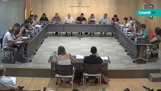 Ajuntament de Calafell: Sessió plenària extraordinària, 20 de juliol de 2017