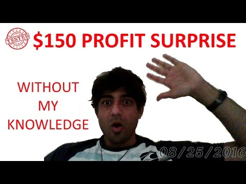 Surprise $150 Dollars Profit on Autopilot Trading with Wall Street Trading Software